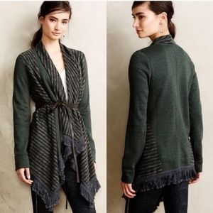 Saturday Sunday Elise Striped Green Cardigan 68F0